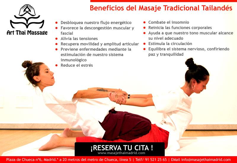 Beneficios del masaje tailandés aplicado por expertos en madrid
